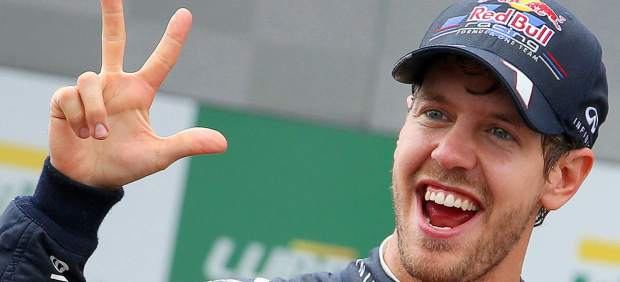 Triplete de Vettel