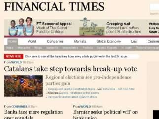 Portada del 'Financial Times'