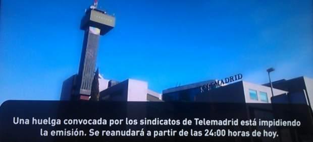 Apagón 27N en Telemadrid