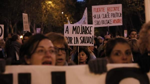 Protestas de Sanidad en Madrid