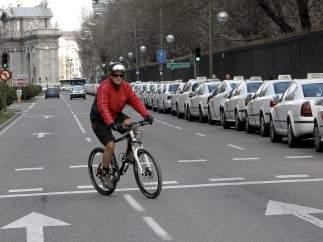 Ciclista en Madrid