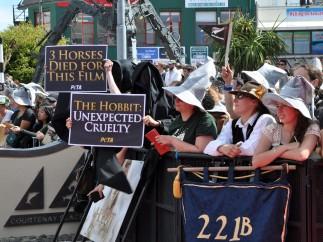 Protesta en el estreno de 'El Hobbit'