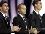 Messi, Cristiano e Iniesta, finalistas al Balón de Oro 2012