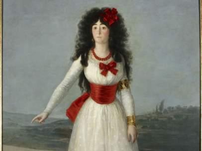 La Duquesa de Alba de blanco