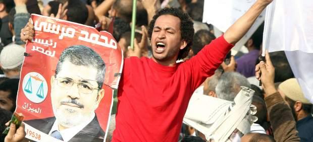 Manifestaci�n en apoyo a Morsi