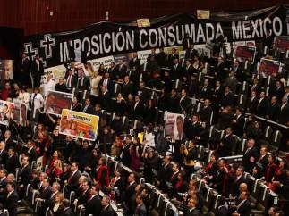 Protestas en la investidura de Peña Nieto
