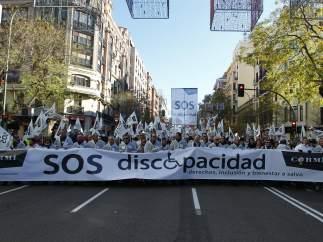 Pancarta de la marcha