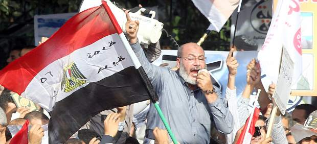 Protesta en apoyo a Morsi