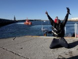 Rescate de inmigrantes en barcas hinchables