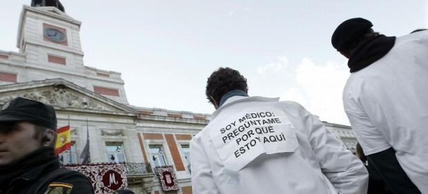 Protesta de médicos en Sol
