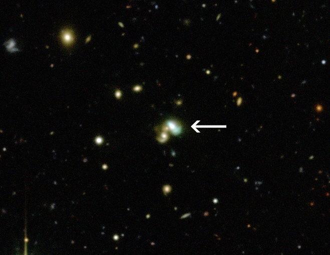La galaxia poroto verde