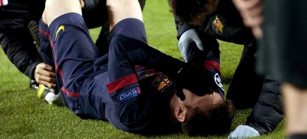 Messi, lesionado