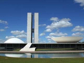Palacio del Congreso, Brasilia, obra de Niemeyer