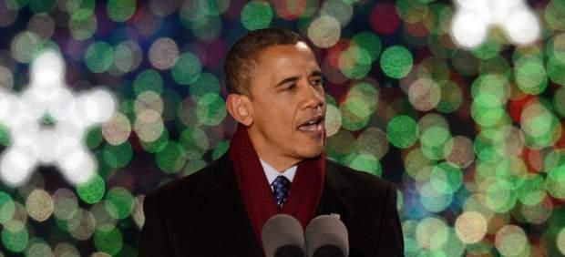 Obama, en el encendido del �rbol de la Casa Blanca