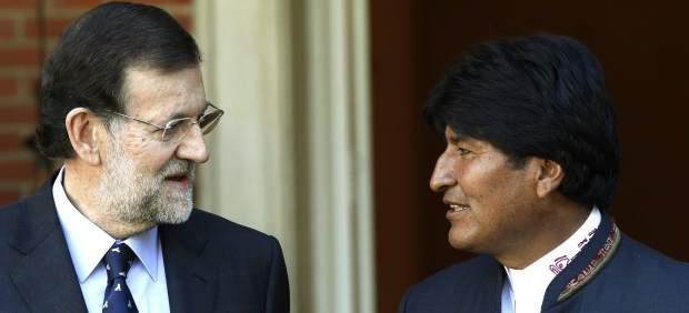 Rajoy y Evo Morales