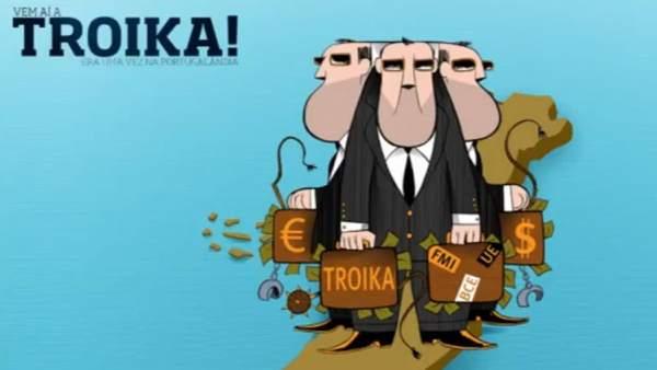 'Ahí llega la troika'