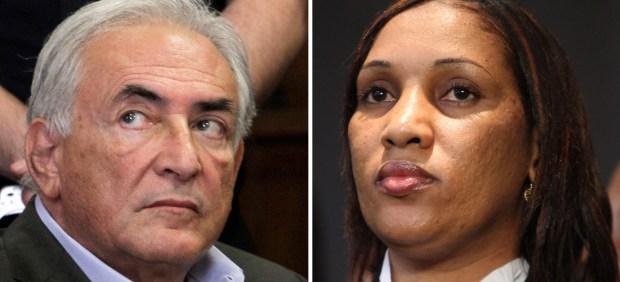 Strauss-Kahn y Nafissatou Diallo