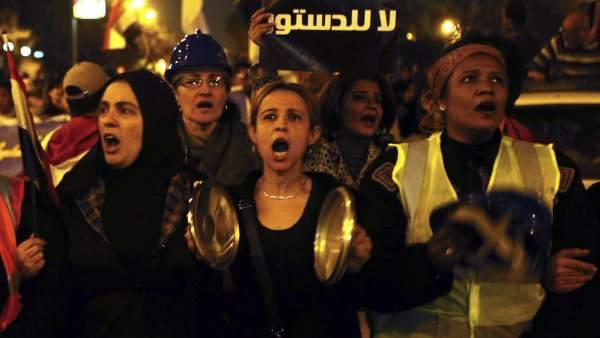 Protestas en Egipto por la Constitución