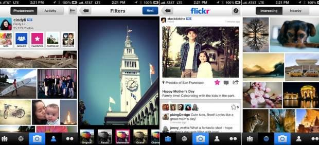 Flickr actualiza su aplicación móvil para hacerle sombra a Twitter e Instagram