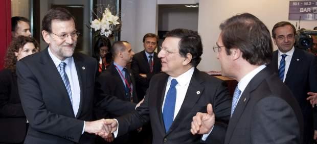 Rajoy, con Barroso y Coelho