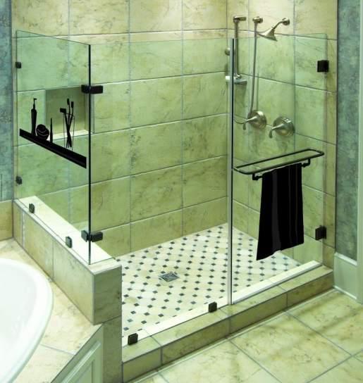 M s espacio en el ba o c mo cambiar la ba era por una ducha - Como montar mampara de ducha ...