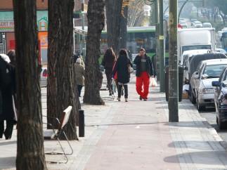 Carril de peatones