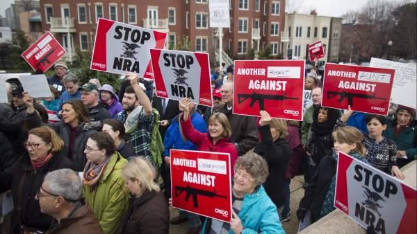 Manifestación contra las armas