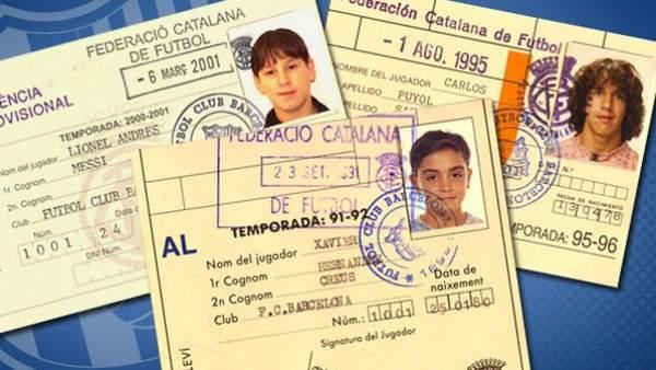 Carnets de Messi, Xavi y Puyol