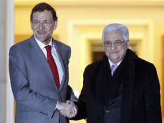 Rajoy y Abbás