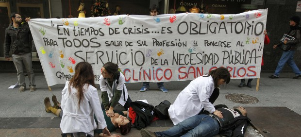 Protesta sanitaria en Madrid