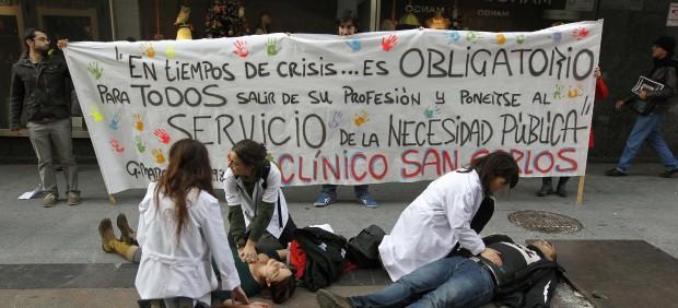 Protesta sanitaria en Madrid