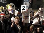 Protestas durante sorteo en el Teatro Real
