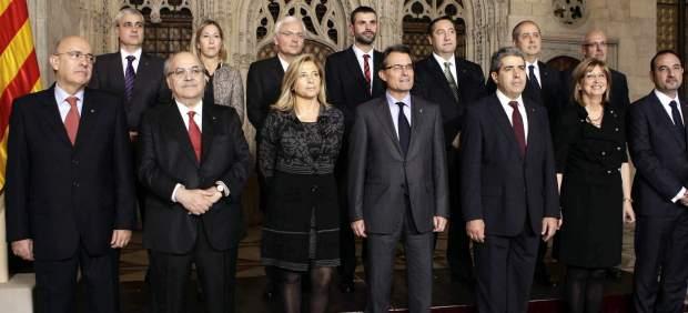 Toma de posesión de los consellers de Cataluña