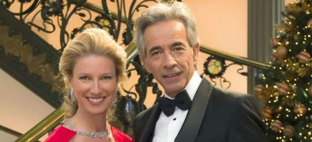 La presentadora Anne Igartiburu y el actor Imanol Arias