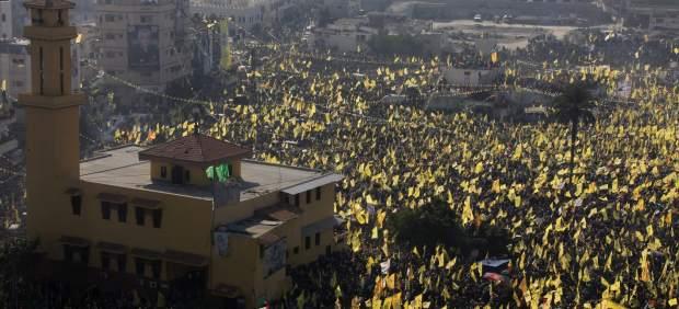 Celebraci�n del 48 aniversario de Al Fatah en Gaza