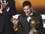 Messi con el Balón de Oro