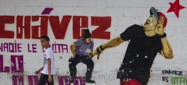 Mural sobre Ch�vez