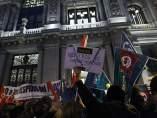 Protesta ante el Banco de Espa�a por Bankia