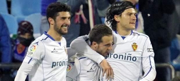 Gol de Montañés con el Zaragoza