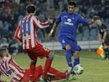 Juanfran y Miguel Torres en el Getafe - Atlético