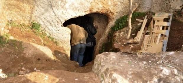 Cavernas como refugio en Siria