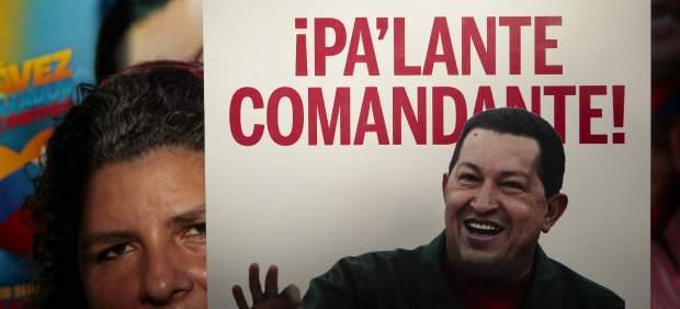 Pancarta de apoyo a Chavez