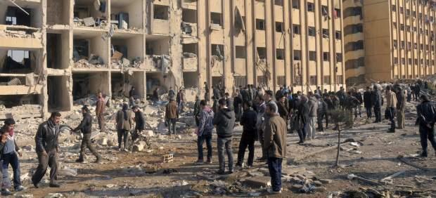 Bombardeo de la Universidad de Alepo