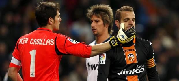 Casillas y Soldado en el Madrid - Valencia