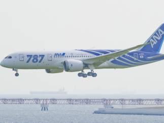 Un Boeing 787 en Japón