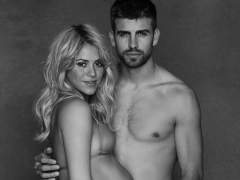 Shakira y Piqu� posan muy embarazados