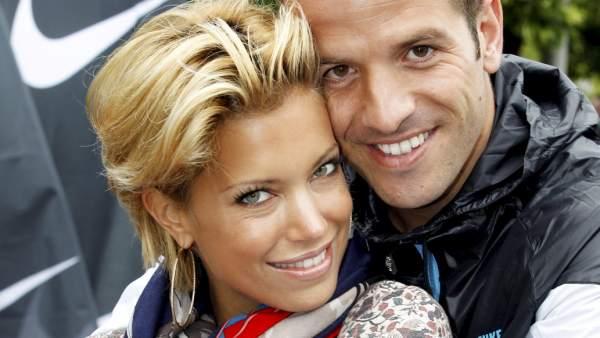 Rafael y Sylvie Van der Vaart