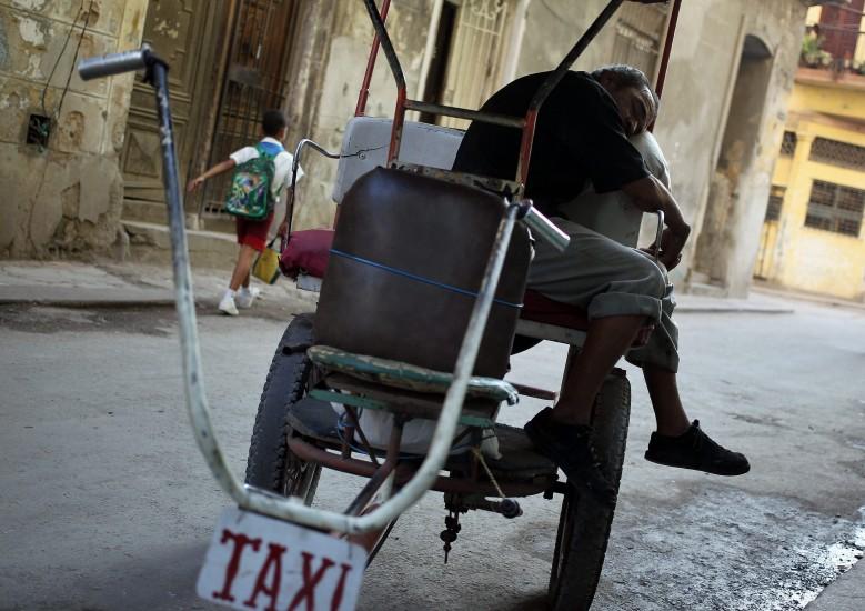 Bicitaxi en La Habana