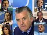 Dirigentes del PP, con Barcenas en el centro de la imagen