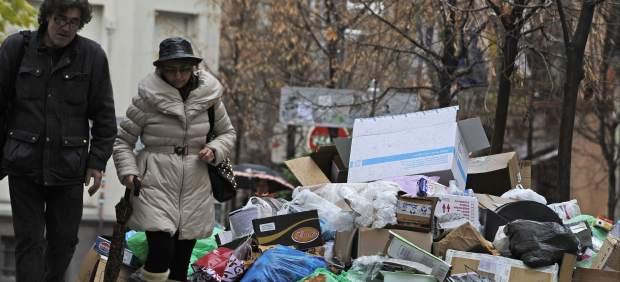 Huelga de basuras en Granada